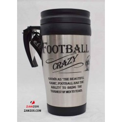 Travel Mug - Football Crazy ZAWTMGO3