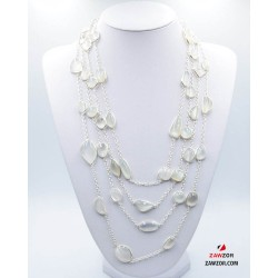 Silver Moonstone Necklace yan528